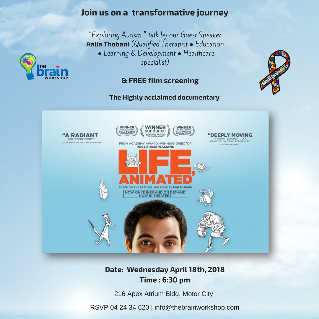 Life Animated Movie screening and a Exploring Autism talk